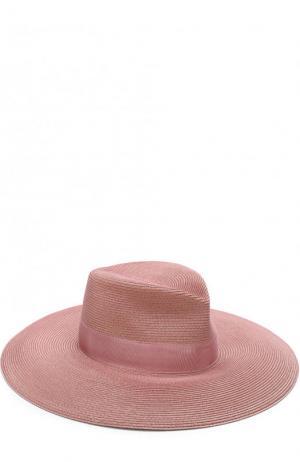 Шляпа с лентой Eric Javits. Цвет: светло-розовый