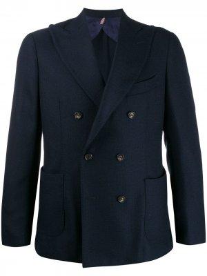 Delloglio двубортный пиджак Dell'oglio. Цвет: синий