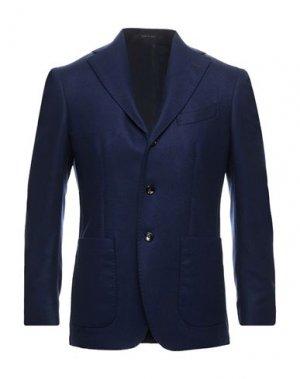 Пиджак PULITO. Цвет: темно-синий