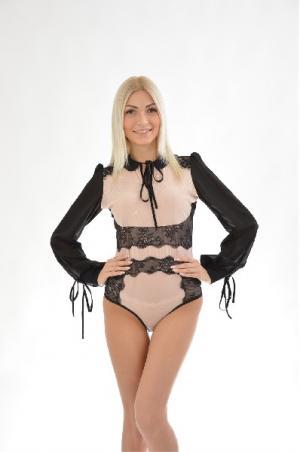 Блуза-боди Arefeva. Цвет: разноцветный