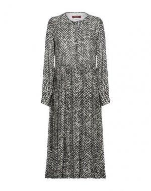 Платье длиной 3/4 MAX MARA. Цвет: черный