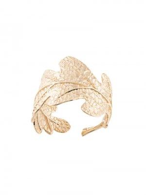 Кольцо в форме дубового листа Karen Walker. Цвет: золотистый