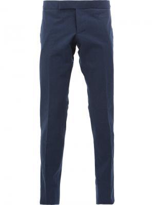 Классические брюки-чинос Thom Browne. Цвет: синий