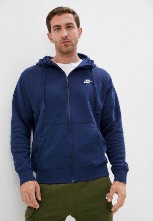 Толстовка Nike M NSW CLUB HOODIE FZ BB. Цвет: синий