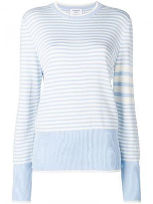 Пуловер в двух тонах с 4 полосками Thom Browne