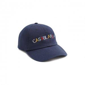 Хлопковая бейсболка Casablanca. Цвет: синий