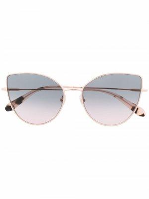Солнцезащитные очки в оправе кошачий глаз GIGI STUDIOS. Цвет: розовый