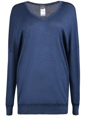 Шелковый пуловер Lorena Antoniazzi. Цвет: синий