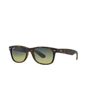 Солнечные очки RAY-BAN. Цвет: темно-коричневый