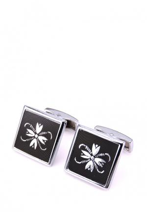 Запонки Churchill accessories MP002XM0W73D. Цвет: серебряный, черный