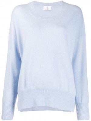 Кашемировый джемпер с круглым вырезом Allude. Цвет: синий