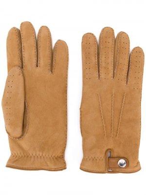 Перчатки с перфорацией Brunello Cucinelli. Цвет: нейтральные цвета
