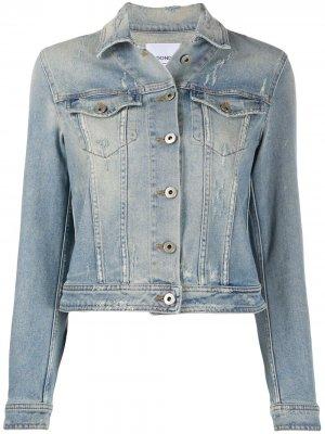 Джинсовая куртка с эффектом потертости Dondup. Цвет: синий
