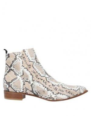 Полусапоги и высокие ботинки LORENA PAGGI. Цвет: бежевый