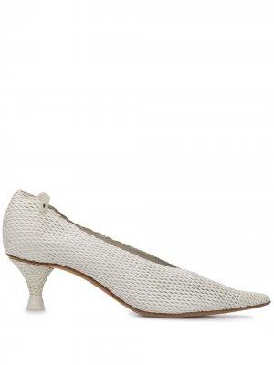 Сетчатые туфли-лодочки Premiata. Цвет: белый