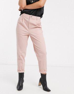 Розовые брюки чиносы -Розовый ASOS DESIGN