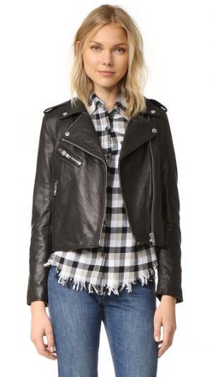 Кожаная куртка Roadside Current/Elliott. Цвет: черная кожа