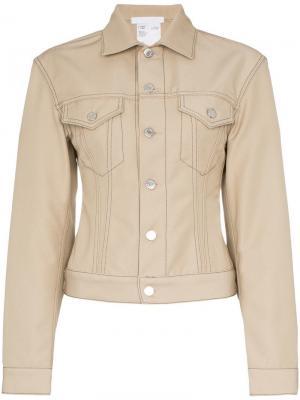 Джинсовая куртка Helmut Lang. Цвет: нейтральные цвета