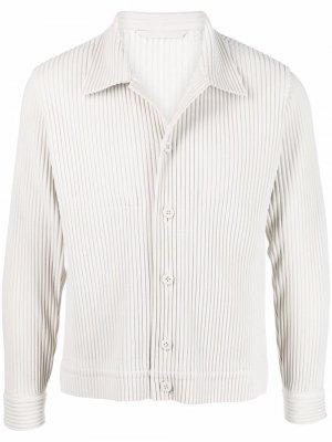 Плиссированная куртка на пуговицах Issey Miyake. Цвет: серый