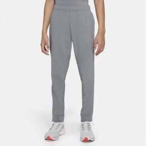 Брюки для тренинга из тканого материала мальчиков школьного возраста Dri-FIT - Серый Nike