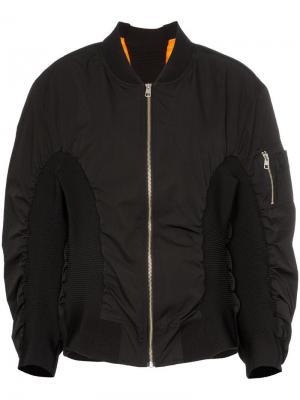 Дутая куртка-бомбер с принтом логотипа Calvin Klein Jeans Est. 1978