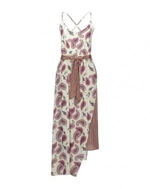 Платье длиной 3/4 EMMA & GAIA. Цвет: слоновая кость