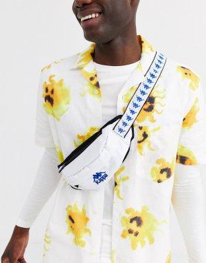 Белая сумка-кошелек на пояс с логотипом ремешке 222 Banda Anais-Белый Kappa