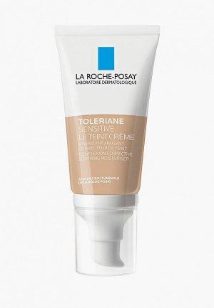 Крем для лица La Roche-Posay TOLERIANE SENSITIVE тонирующий увлажняющий, светлый оттенок, 50 мл. Цвет: бежевый