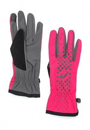 Перчатки ASICS WINTER PERFORMANCE GLOVES. Цвет: розовый