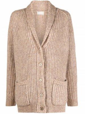 Ribbed-knit cardigan Mes Demoiselles. Цвет: нейтральные цвета