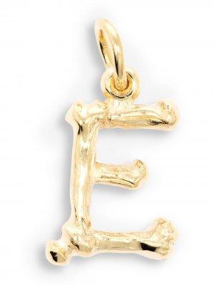 Подвеска Alphabones E из желтого золота The Great Frog. Цвет: золотистый