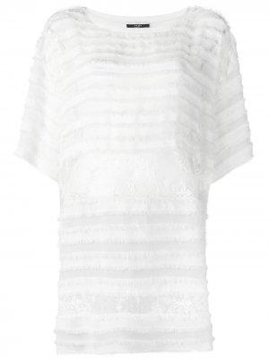 Кружевное платье-футболка Faith Connexion. Цвет: белый