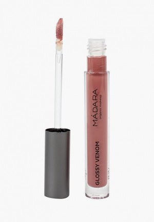 Блеск для губ Madara Magnetic Nude, 73, органический глянцевый, придания объема и эффекта увлажненных губ, 4 мл.. Цвет: прозрачный