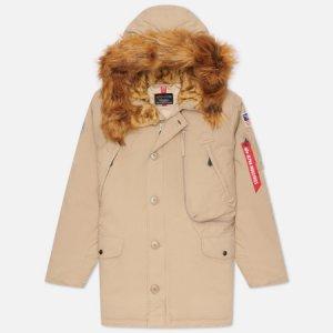 Мужская куртка парка N-3B Alpine Alpha Industries. Цвет: бежевый