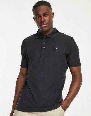 Черная футболка поло Newport-Черный цвет Calvin Klein Golf