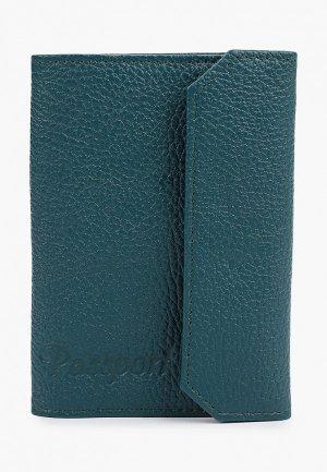 Обложка для паспорта Artio Nardini. Цвет: бирюзовый