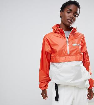 Оранжевая ветровка колор блок с логотипом Nike Sb-Оранжевый SB