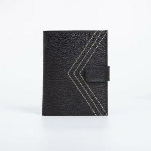 Обложка для автодокументов и паспорта, цвет чёрный TEXTURA