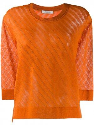 Пуловер с круглым вырезом Dorothee Schumacher. Цвет: оранжевый