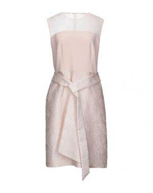 Короткое платье BOTONDI MILANO. Цвет: телесный