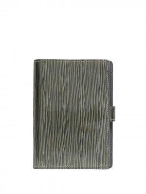 Обложка для блокнота Epi pre-owned Louis Vuitton. Цвет: зеленый