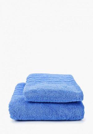 Набор полотенец HappyFox. Цвет: синий