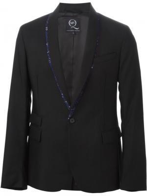 Пиджак смокинг с цветочной окантовкой McQ Alexander McQueen. Цвет: чёрный
