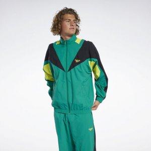 Спортивная куртка Classics Twin Vector Reebok. Цвет: basil green