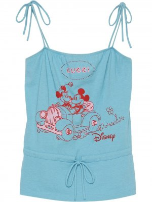 Топ с принтом из коллаборации Disney Gucci. Цвет: синий