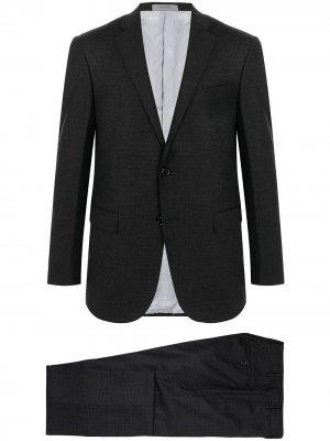 Костюм из смесовой шерсти с однобортным пиджаком Corneliani. Цвет: серый