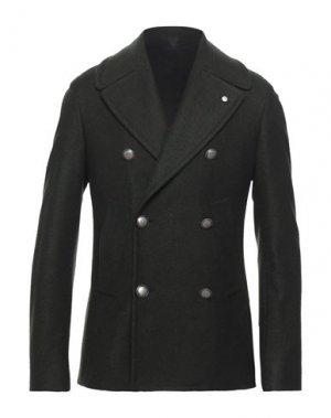 Пальто L.B.M. 1911. Цвет: темно-зеленый
