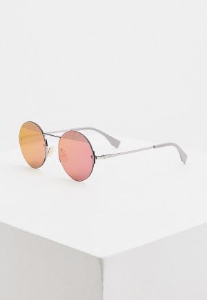 Очки солнцезащитные Fendi FF M0058/S B3V. Цвет: серебряный