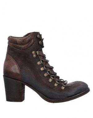 Полусапоги и высокие ботинки CORVARI. Цвет: темно-коричневый