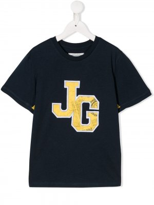 Футболка Varsity John Galliano Kids. Цвет: синий